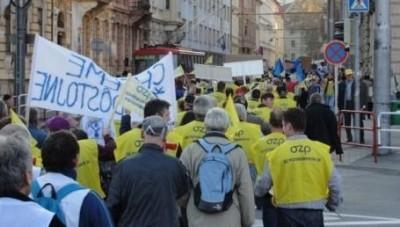 Slovacchia.Protesta sindacale a Michalovce contro il Codice del Lavoro, scarsa la partecipazione