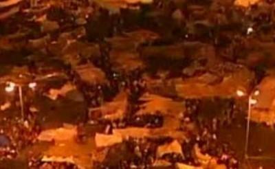 La piazza gioiosa del Cario dopo l'annuncio delle dimissioni di Mubarak ( venerdi 11 gennaio 2011 ore 17.48)