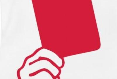 Risultati immagini per cartellino rosso