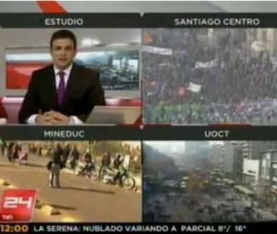 200.000 studenti cileni manifestano per la scuola pubblica.
