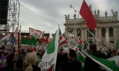 Cremonesi alla manifestazione del PD a Roma