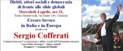 Creare lavoro. Sergio Cofferati a Cremona