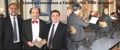 Liuteria Cremonese a Füssen: oltre 7000 visitatori