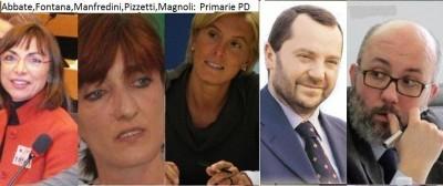 Primarie PD. Abbate,Fontana,Magnoli,Manfredini e Pizzetti a confronto ( telefonata)