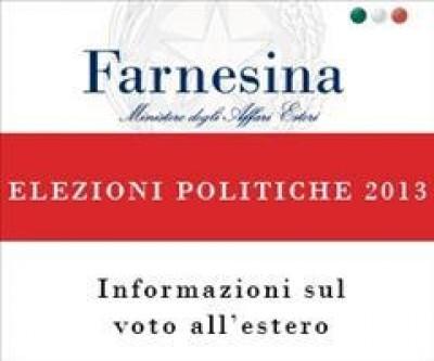 Elezioni 2013.TUTTE LE LISTE E I CANDIDATI DELLA CIRCOSCRIZIONE ESTERO