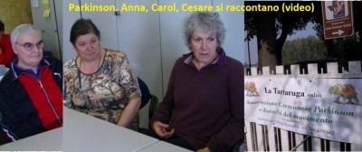 Parkinson. Anna, Carol, Cesare si raccontano (video)