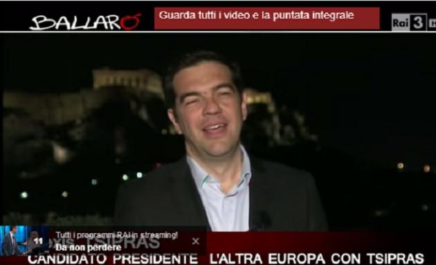 Ballarò intervista Alexis Tsipras (video)