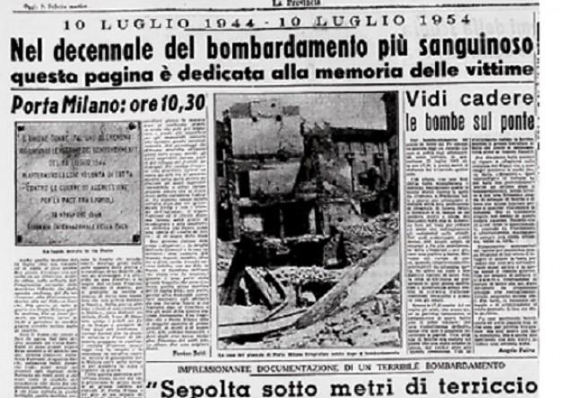 AccaddeOggiCremona  #10 luglio 1944 Cremona viene bombardata. Un ricordo di A.Gusperti