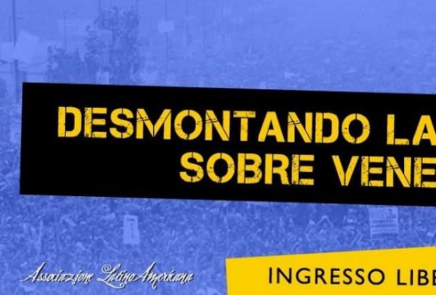 A Cremona Dibattito aperitivo: smentendo le bugie sul Venezuela