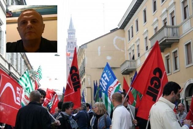 Cgil Cremona. 500 lavoratori a Brescia per Lo sciopero generale del 12 dicembre 2014  Mimmo Palmieri (tel)