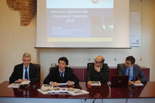 Presentato a SpazioComune l'Annuario Statistico del Comune di Cremona