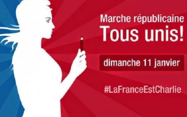 Oggi a Parigi si svolge la Marcia Repubblicana. Partecipiamo riascoltando  la Marsigliese 908bf15d1171