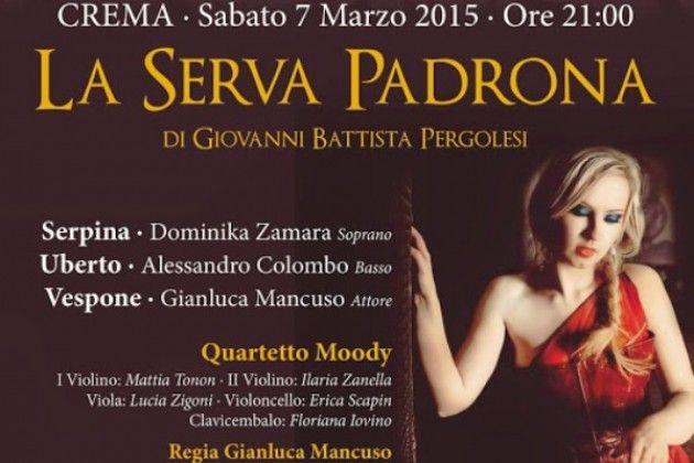 Teatro in provincia di Cremona, a Crema 'La serva padrona' di Pergolesi