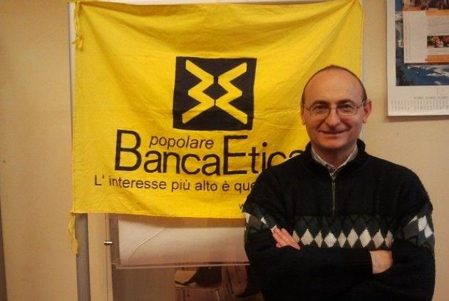 Don Bruno Bignami vista Banca Etica  di Cremona