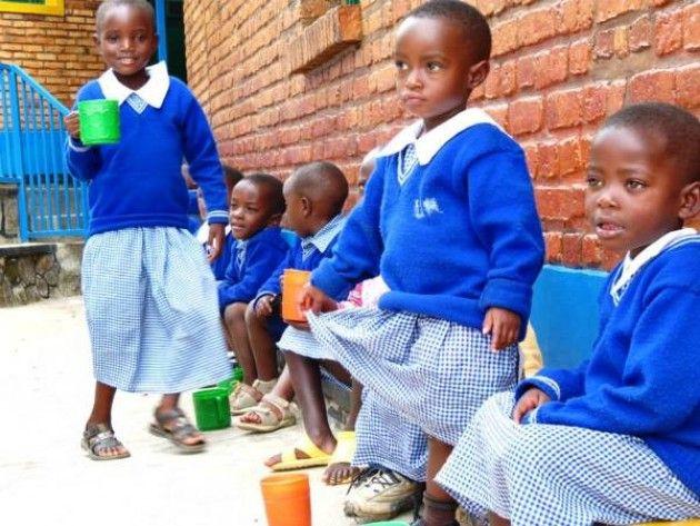 Al via il primo anno scolastico dell'asilo di Muyanza, in Ruanda settentrionale