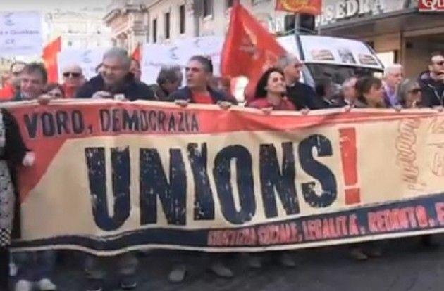 Fiom Roma Landini tuona contro il governo Renzi