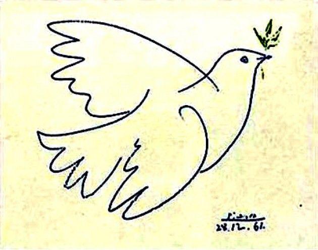 Gennaio 1949 Buona Pasqua con la Colomba della Pace di Pablo Picasso