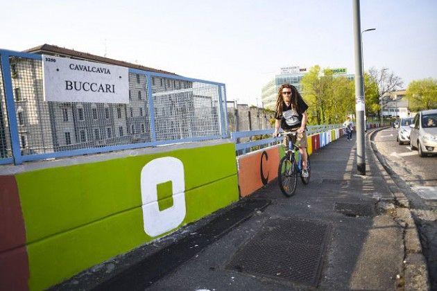 Milano, 70 anni dalla Resistenza: inaugurazione murales di Cavalcavia Buccari