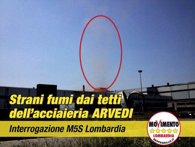 Fumi dall'acciaieria Arvedi, interrogazione del Movimento 5 Stelle Lombardia
