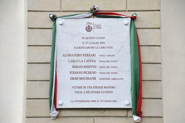 Via Palestro, Pisapia: 'Intitoleremo giardini di via Morgagni alle vittime attentato del 1993'
