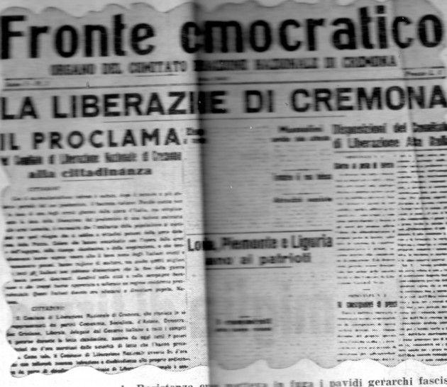 70° della Liberazione gli scritti di Emilio Zanoni