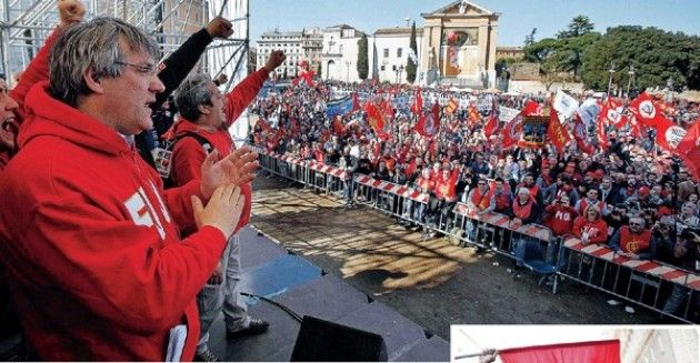 La Fiom a Roma per il contratto e contro le politiche di Renzi Intervista a Massimiliano Bosio (Fiom Cremona)
