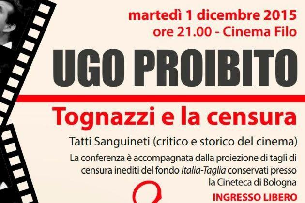 Cremona per Ugo, il Tognazzi 'proibito' in un doppio appuntamento il 1° dicembre