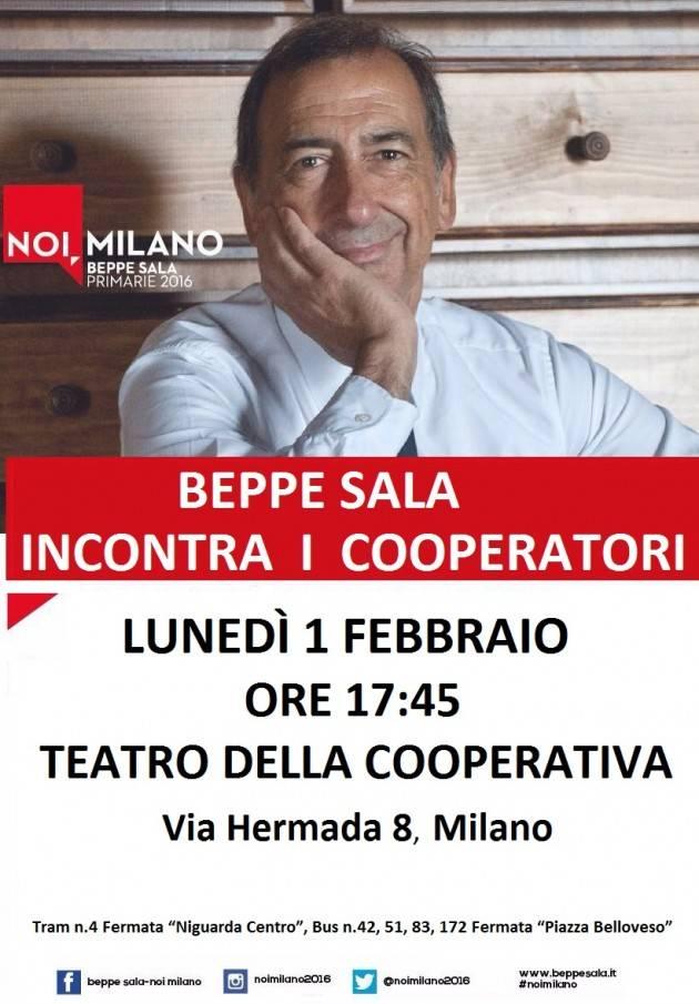 Milano - Lunedì 1 febbraio Beppe Sala incontra i Cooperatori