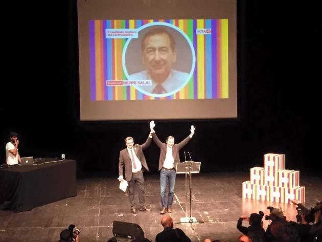 Milano - Con il 42% dei voti il candidato del centrosinistra e' Giuseppe Sala