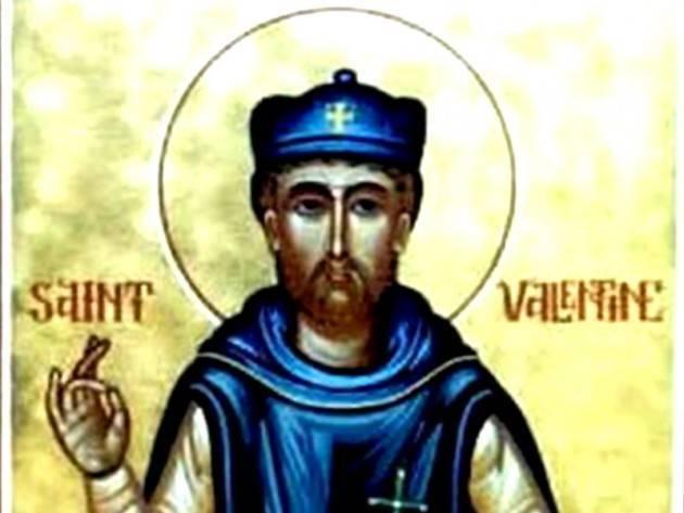 Accadde Oggi 14 febbraio 496 –  La festa di san Valentino: istituita da papa Gelasio I la festa degli innamorati