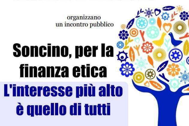 Soncino (Cremona), incontro con Banca Etica: 'L'interesse più alto è quello di tutti'