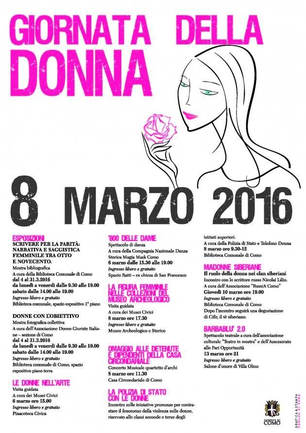 Como - Le manifestazioni per celebrare la giornata della donna a Como