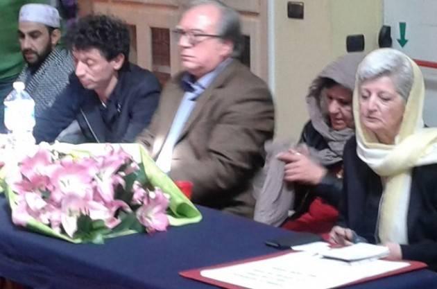 Cremona Galimberti e Viola  in moschea alla cerimonia funebre in ricordo del padre di Mian Aftab Karim