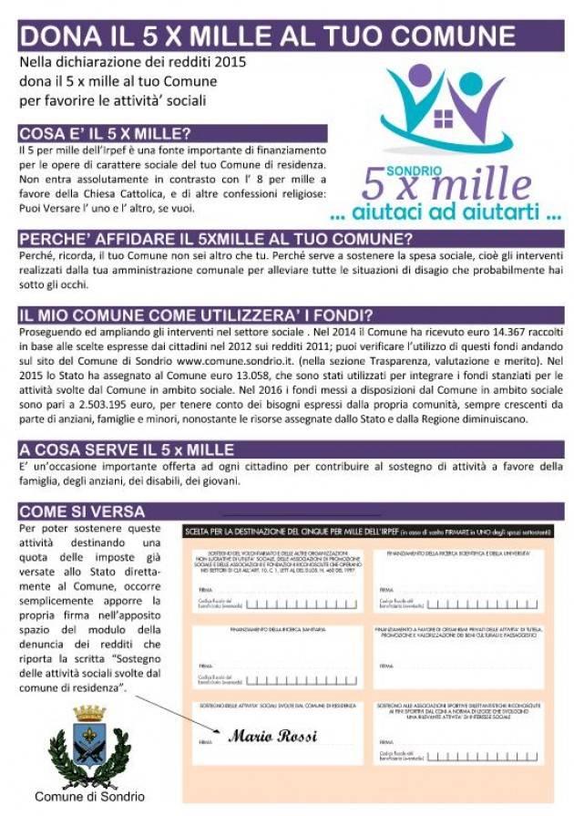 Sondrio - 5 X mille