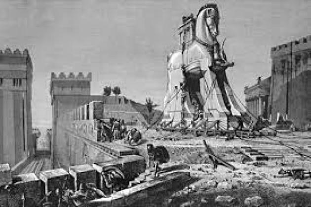 #AccaddeOggi 24 aprile 1184 a.C. – Gli antichi greci entrano a Troia servendosi di un finto cavallo