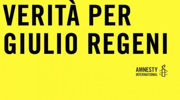 Milano - Flashmob 'Verità per Giulio Regeni', 24 aprile