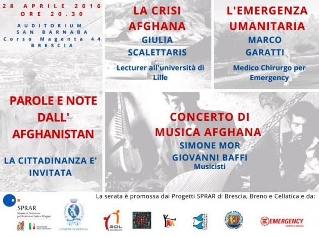Brescia - PAROLE E NOTE DALL'AFGHANISTAN (B)