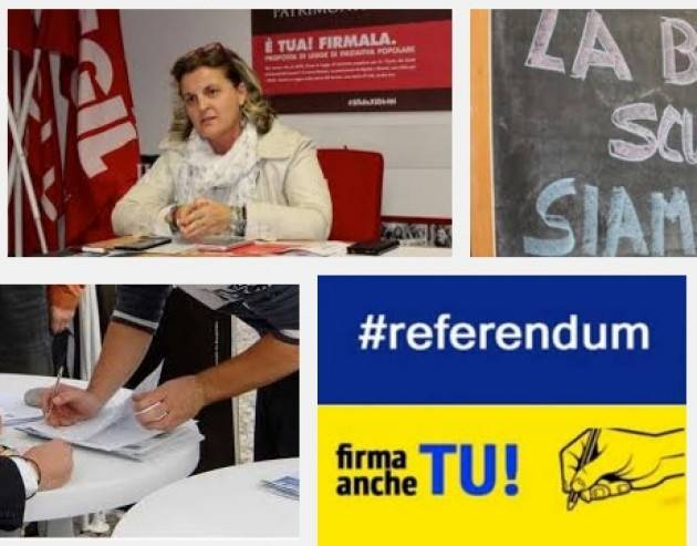Scuola Pubblica Partita la raccolta firme per 4 Referendum la telefonata con Laura Valenti (Flc-Cgil)