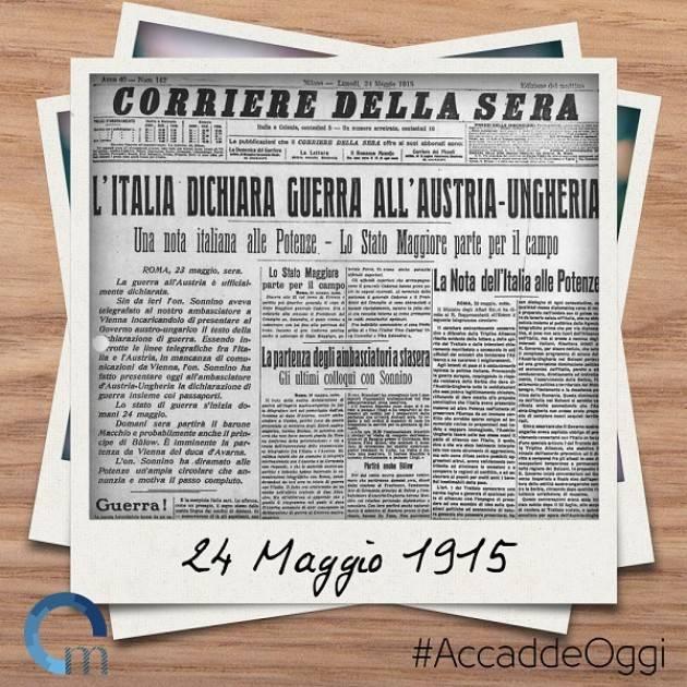 Anniversario 24 maggio 1915 . Rapporto tra l'interventismo ed il fascismo Cremonese | G. Azzoni
