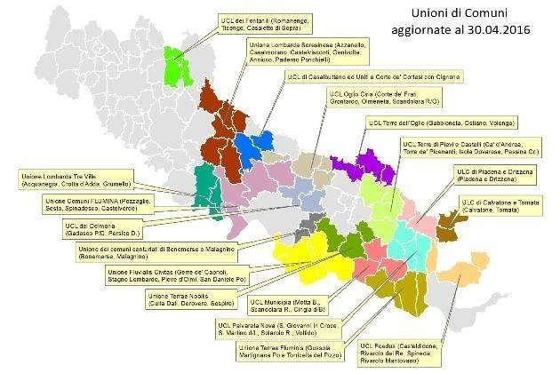 Cartina Geografica Cartina Comuni Della Provincia Di Cremona.Provincia Di Cremona Unioni Di Comuni Una Realta In Costante Cambiamento