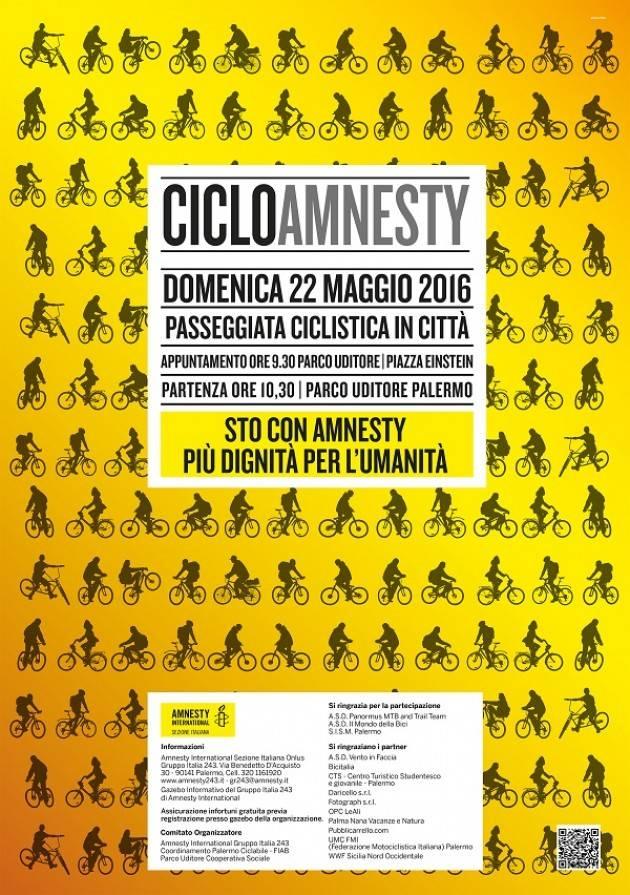 Palermo 7 ° edizione della passeggiata in bici per Amnesty International