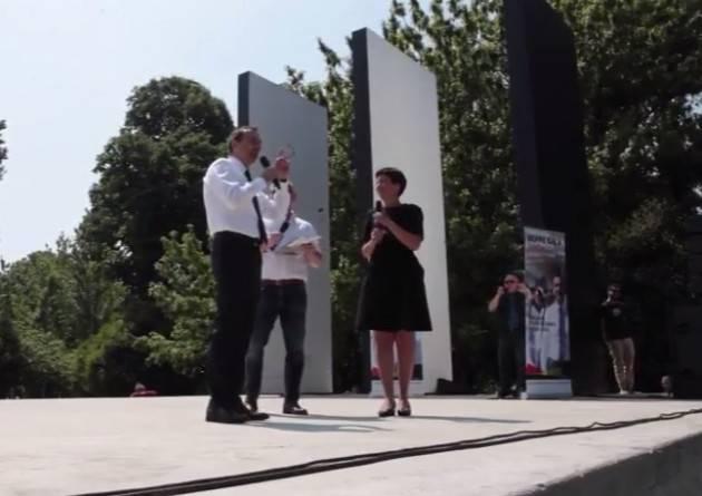 (Video)  Beppe Sala al Teatro Burri di Milano presenta il suo programma per il 5 giugno