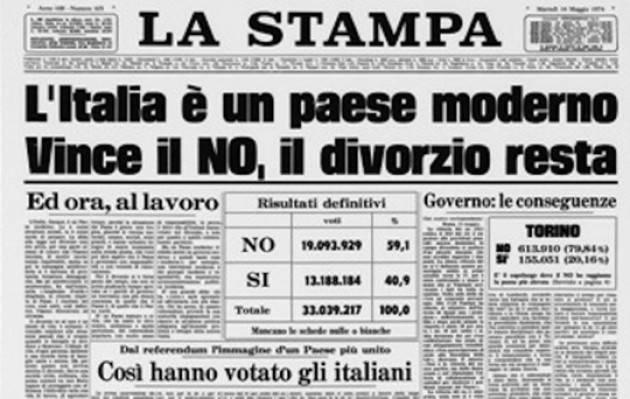 Accadde Oggi 12 maggio 1974 - Nel referendum per l'abrogazione della legge sul divorzio vincono i NO
