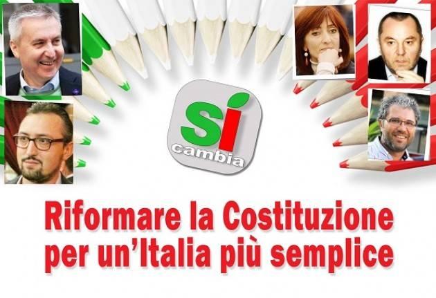 Incontri su Referendum Riforma della Costituzione  Fontana e Pizzetti a Crema Guerrini a Cremona