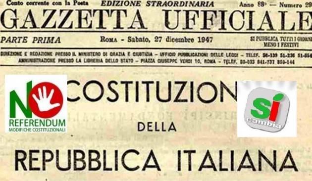 Referendum Costituzione. Lo scambio di Lettere fra 70 Senatori CentroSinistra e Smuraglia (Anpi)