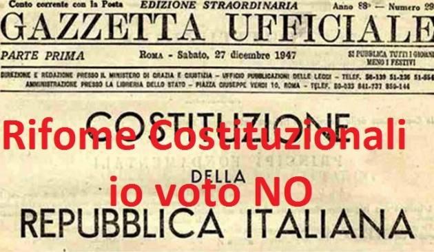La telefonata Referendum Costituzione Gian Carlo Corada Le ragioni del NO dell' ANPI sono profonde !