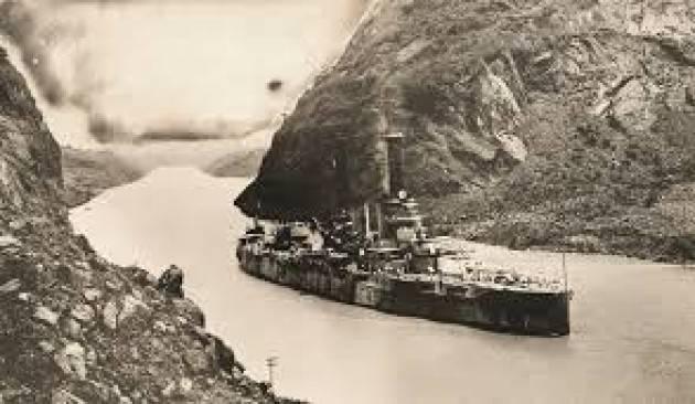 AccaddeOggi   #7giugno 1914 - Il primo vascello passa attraverso le chiuse del Canale di Panama