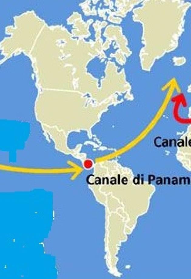 AccaddeOggi  7giugno 1914 - Il primo vascello passa attraverso le chiuse  del Canale di Panama 8e86b9e4b87e