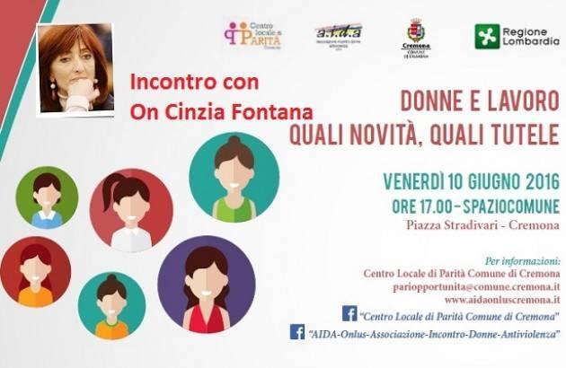 Aida Cremona Incontro su Donne e Lavoro con l'On Cinzia Fontana