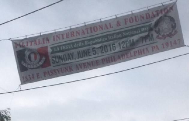 Philadelphia . Filitalia International celebra  il 2 giugno Festa della Repubblica Italiana